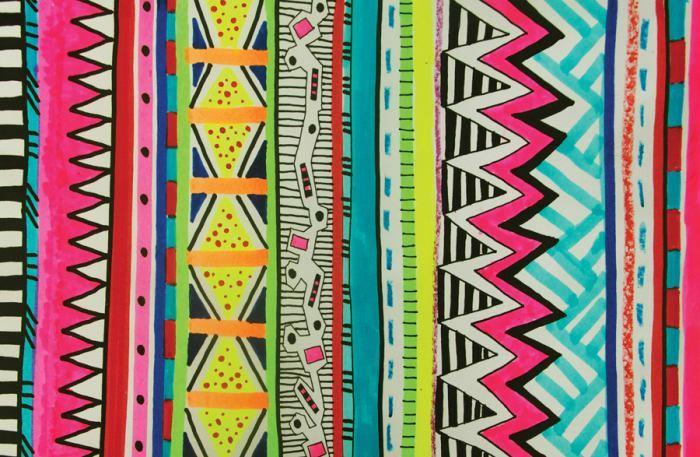 f2dae7cc0 A estampa étnica vem para reavivar as referências africanas e indígenas com  muitos grafismos coloridos… Faz um rabisco gráfico bem colorido que tu já  pode ...