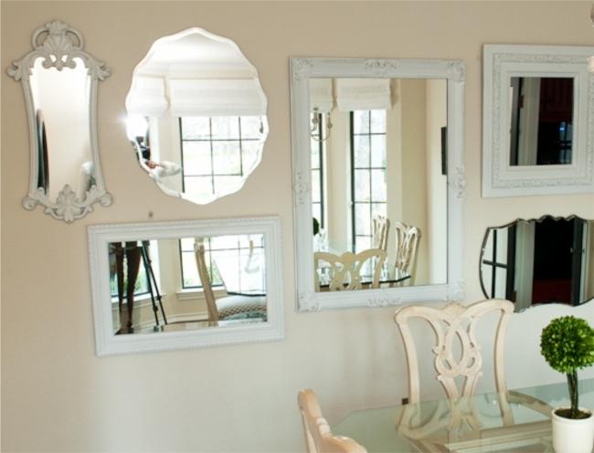 Espelhos na decoração da Sala de Jantar